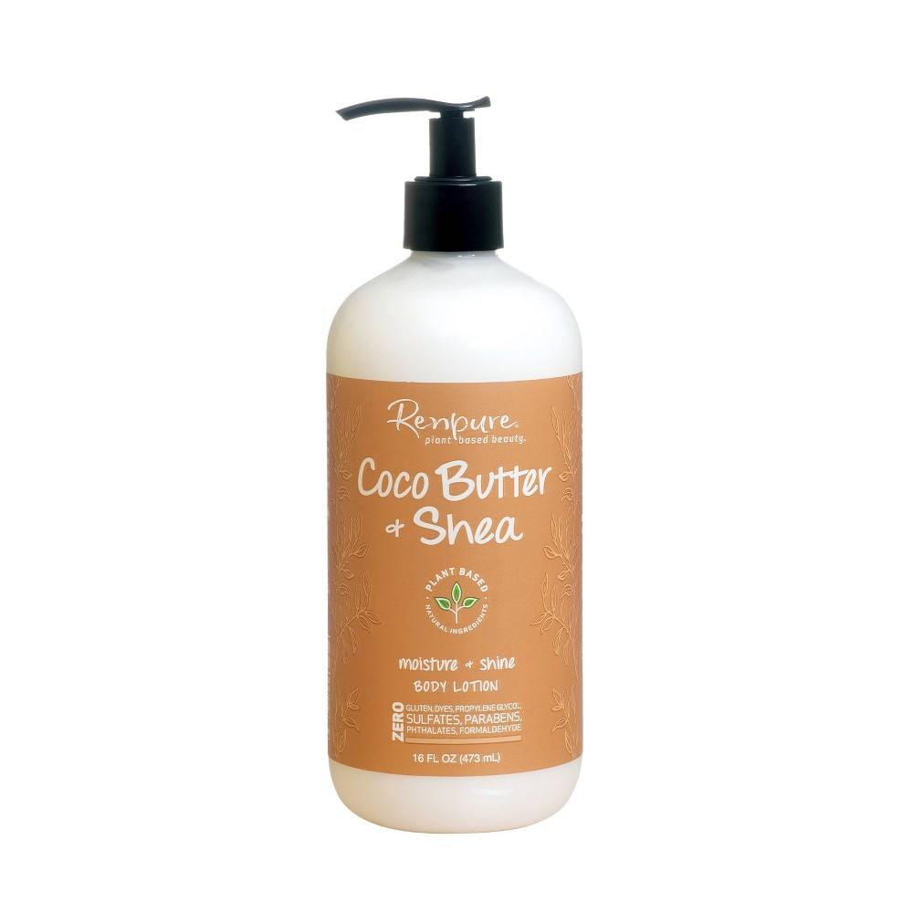 Renpure Coco Butter Shea Moisture And Shine Body Lotion - 16oz, Dark Brown