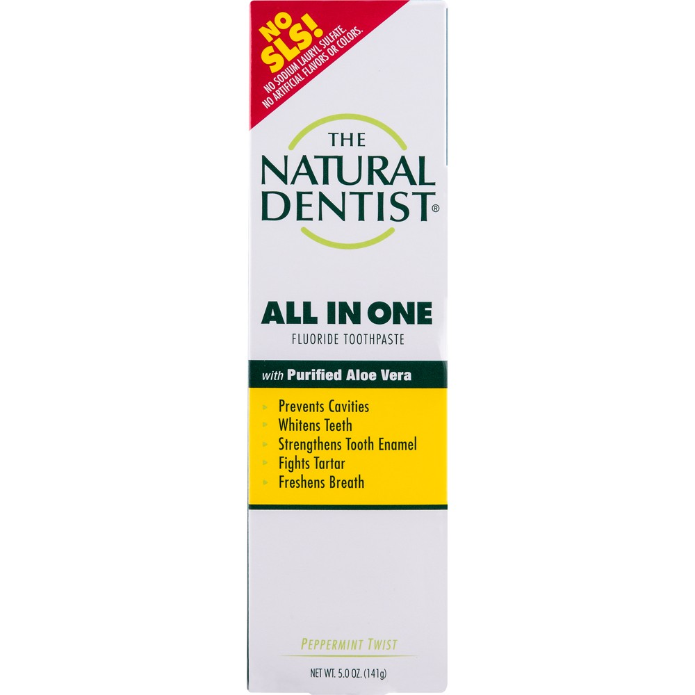 Image of The Natural Dentist All In One Anticavity Peppermint Twist Toothpaste - 5oz