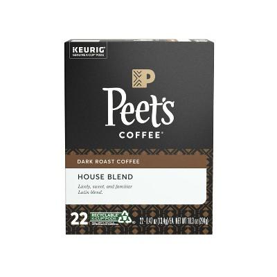 Peet's House Dark Roast Coffee - Keurig K-Cup Pods - 22ct
