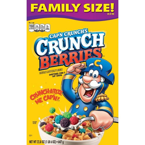 Cap N Crunch Crunch Berries Breakfast Cereal 22 8oz Target All berries have existed since the release of the product. cap n crunch crunch berries breakfast cereal 22 8oz