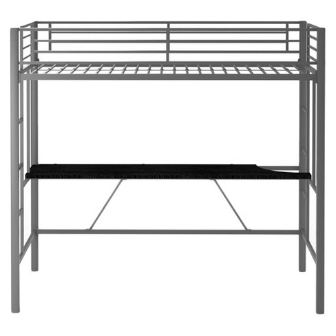 Twin Metal Kids Loft Bed With Desk Silver Dorel Home S Target
