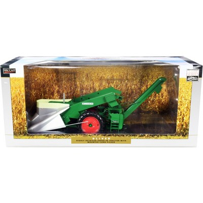 """Oliver Super 88 Tractor with Mounted 74-H Corn Picker """"Classic Series"""" 1/16 Diecast Model by SpecCast"""