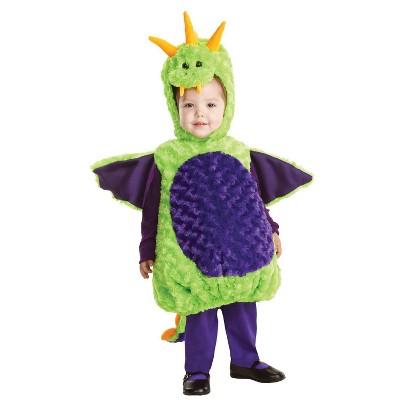 Toddler Dragon Halloween Costume Green/Purple
