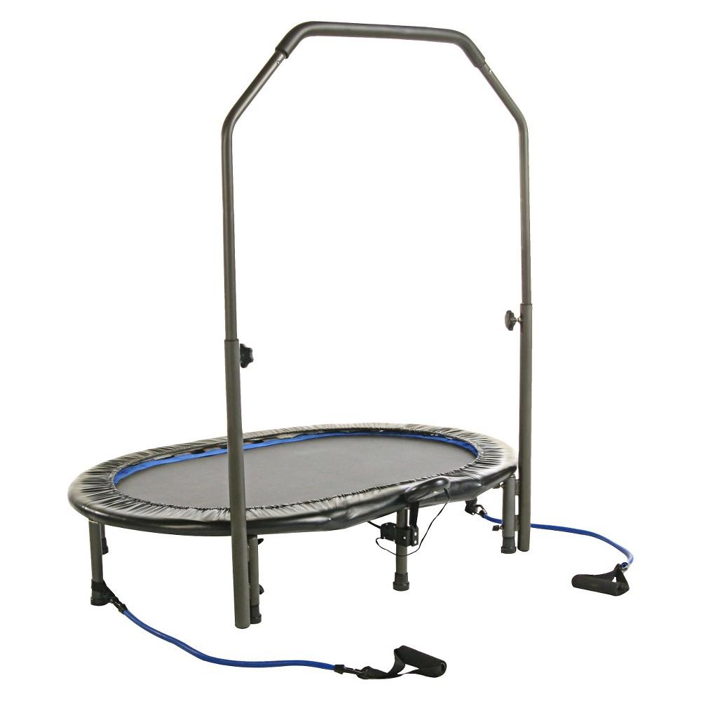 Avari Oval Jogger Exercise Trampoline, Black