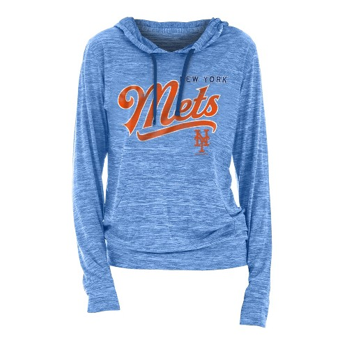 MLB New York Mets Women's Spacedye Lightweight Hoodie - image 1 of 1