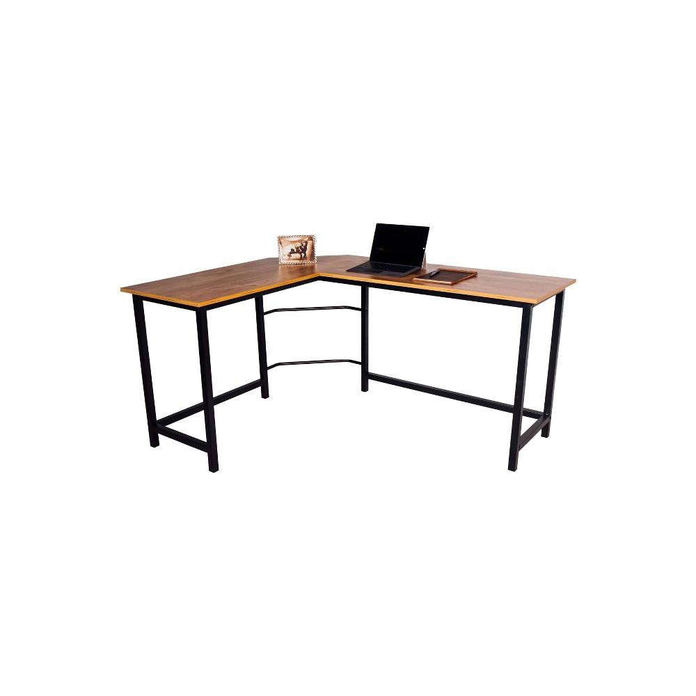 L Shaped Camden Computer Desk Classic Oak Onespace