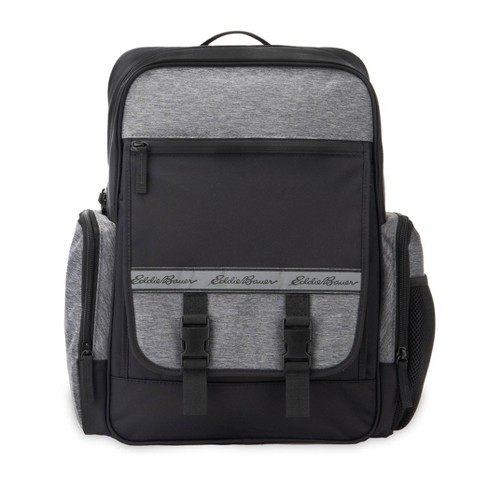 Eddie Bauer Atlas Sport Back Pack Diaper Bag with Ultra Fresh Anti-Microbial Protection - Black/Gray - image 1 of 4