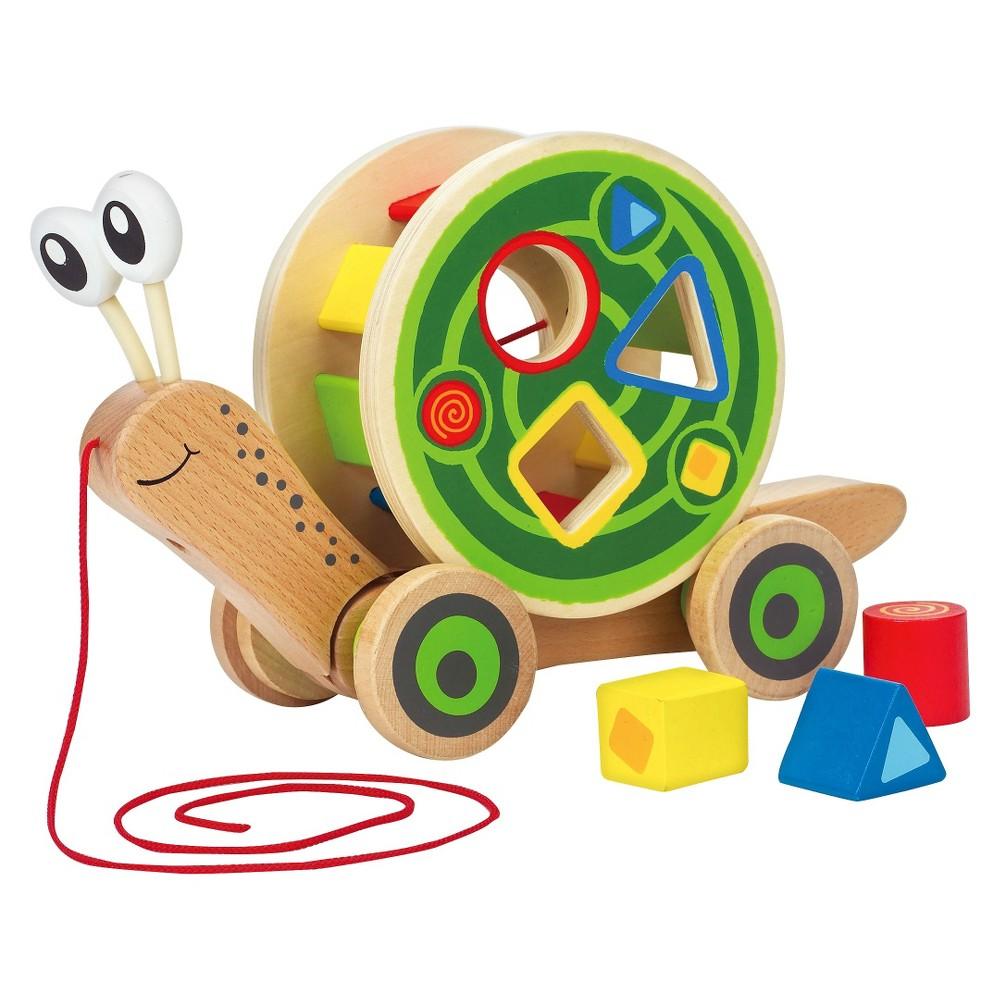 Hape Walk-A-Long Snail, Push and Pull Toys