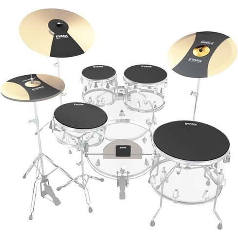 Evans SoundOff Drum Mutes Box Set, Rock 10,12,14,16,22 in.,hi-hat,and cymbal (2) Black - image 1 of 3