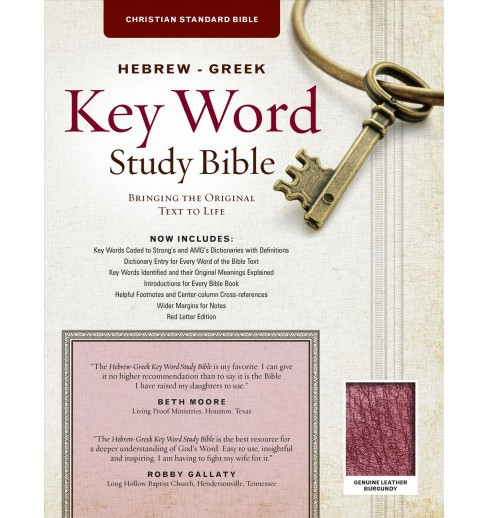Hebrew-Greek Key Word Study Bible : Christian Standard Bible, Burgundy Genuine Leather: Key Insights - image 1 of 1