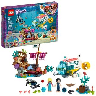 LEGO Friends Dolphins Rescue Mission Sea Life Building Kit with Toy Submarine and Sea Creatures 41378