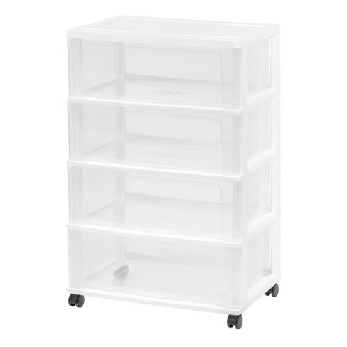 IRIS Wide 3-Drawer Cart White