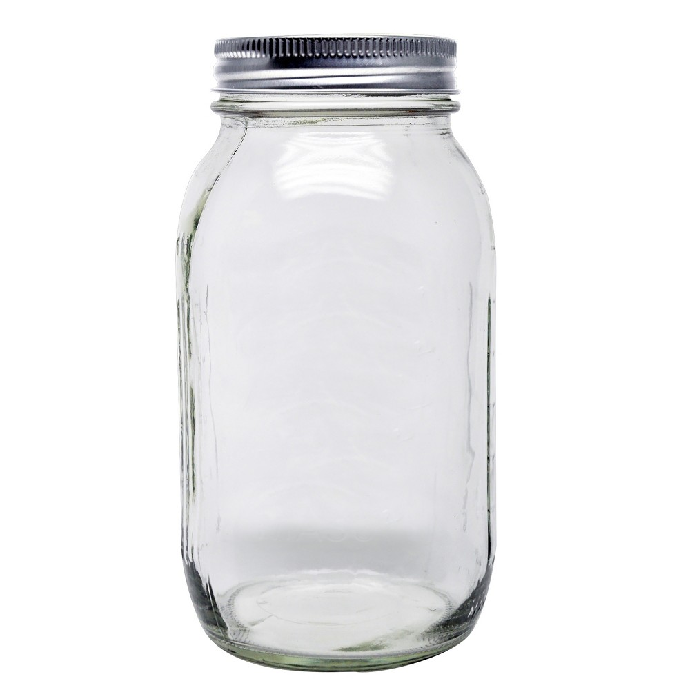 Image of Ball 12ct 32oz Smooth-Sided Mason Jar with Lid and Band - Regular Mouth