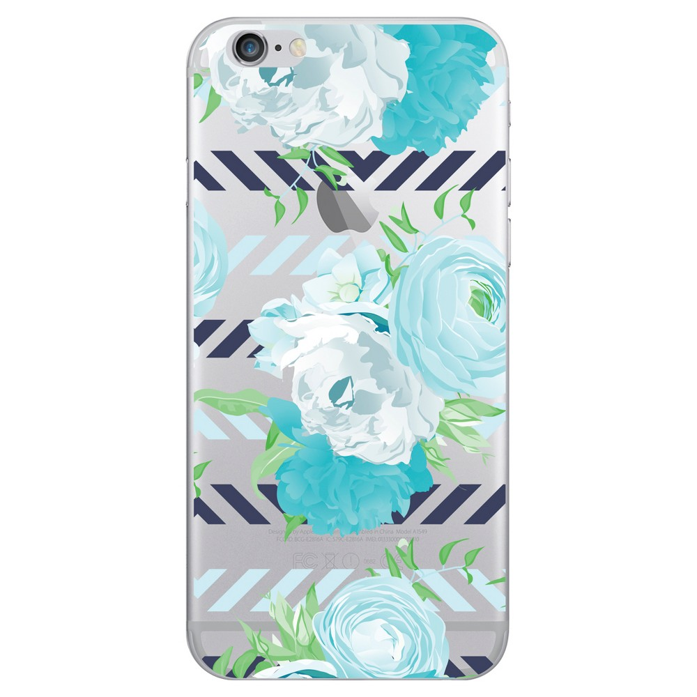 Apple iPhone 8/7/6s/6 Case Hybrid Peonies & Ranunculus Clear Blue - Otm Essentials