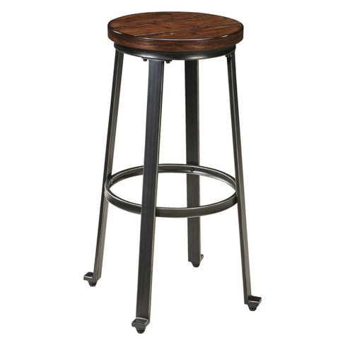 "Challiman 29"" Barstool (Set of 2) Brown - Signature Design by Ashley - image 1 of 4"