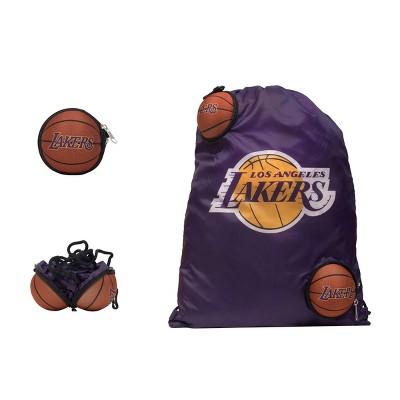 """NBA Los Angeles Lakers 9"""" Drawstring Bag"""
