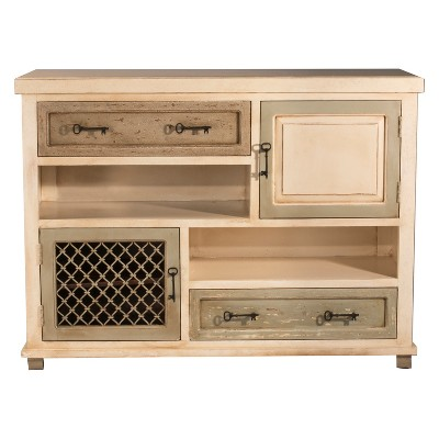 Larose Console Cabinet Rustic White And Gray   Hillsdale Furniture