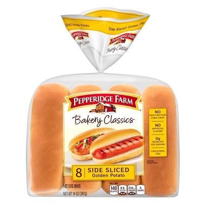 Pepperidge Farm Bakery Classics Top Sliced Golden Potato Hot Dog Buns -14oz/8pk