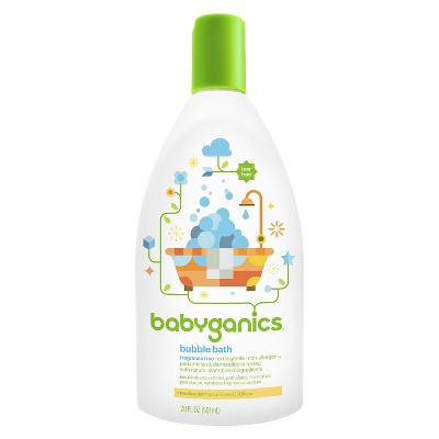 Babyganics Baby Bubble Bath, Fragrance Free - 20oz Bottle