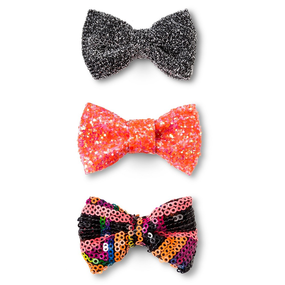 Girls' Clips/Barrettes Black/Red