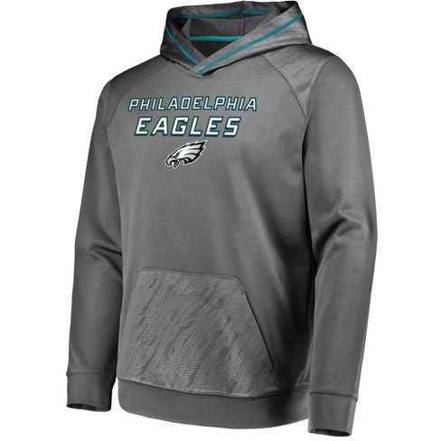 wholesale dealer eaf9f 6f9cc NFL Philadelphia Eagles Men's Geo Fuse Gray Embossed Performance Hoodie