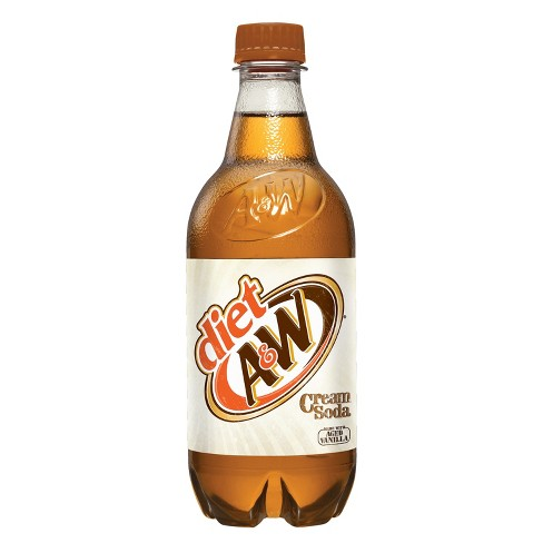 A&W Diet Cream Soda - 20 fl oz Bottle - image 1 of 1