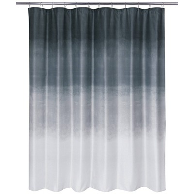 Metallic Ombre Glimmer Shower Curtain Gray - Allure Home Creations