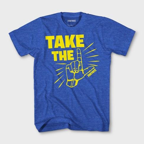 d402ac50 Boys' Fortnite Take The L Short Sleeve T-Shirt - Royal Blue : Target