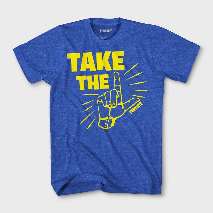 Boys' Fortnite Take the L Short Sleeve T-Shirt - Royal Blue - image 1 of 1