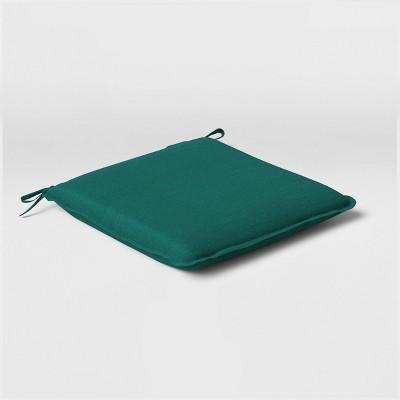 Woven Outdoor Seat Cushion DuraSeason Fabric™ Teal - Opalhouse™