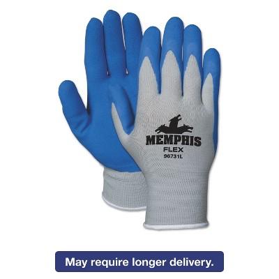 MCR SAFETY Memphis Flex Seamless Nylon Knit Gloves X-Large Blue/Gray Dozen 96731XLDZ