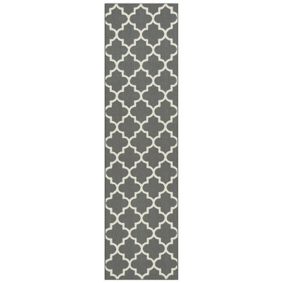 2'X7' Tufted Runner Rug Trellis Grey - Threshold™