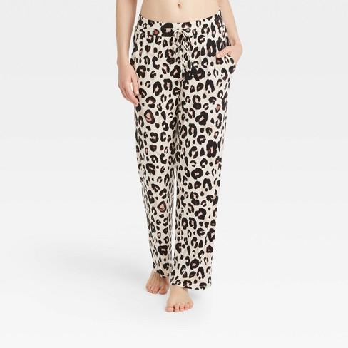 Women's Animal Print Beautifully Soft Pajama Pants - Stars Above™ Light Beige - image 1 of 3