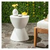 Athena Round Concrete Accent Table - Ivory - Safavieh - image 2 of 4