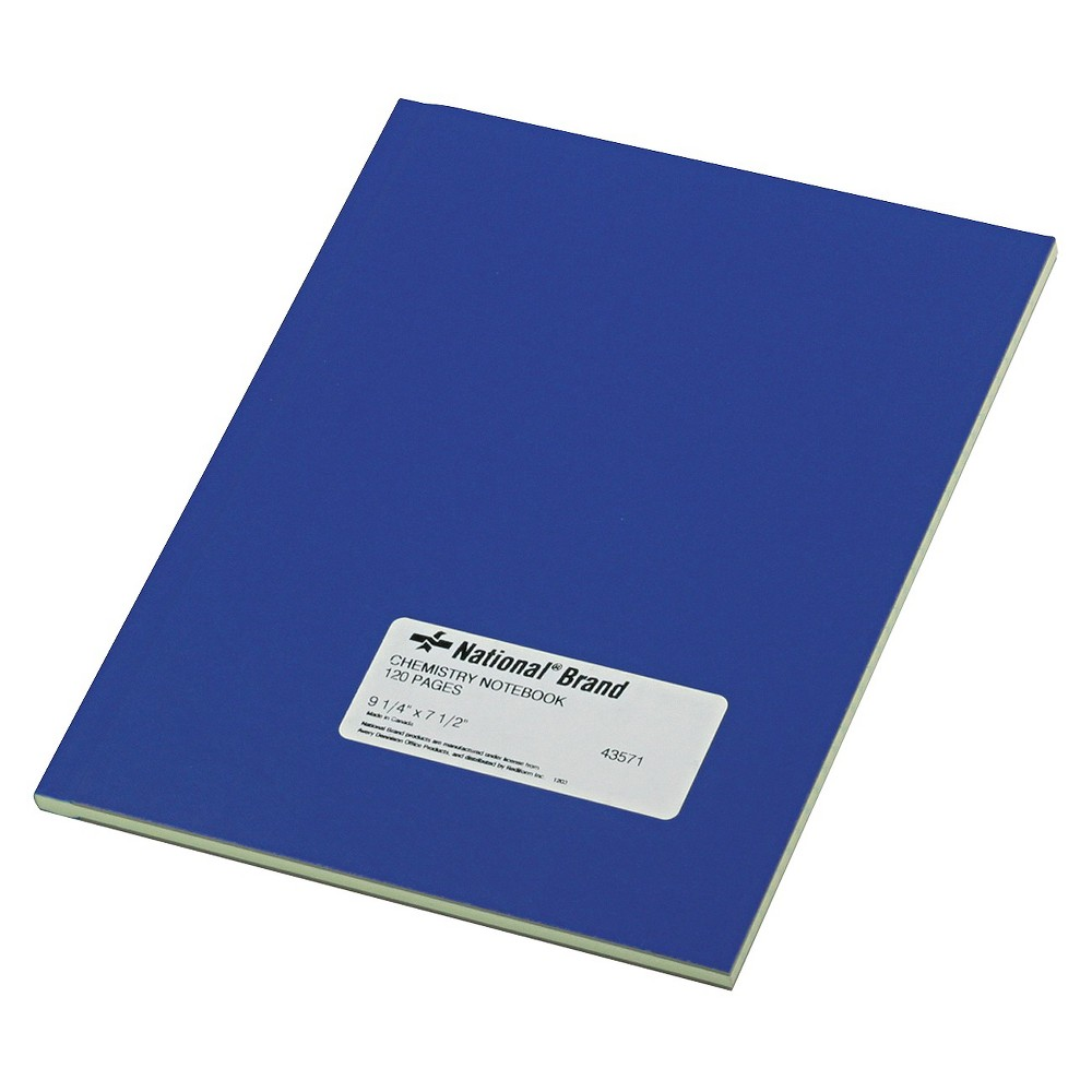 Image of National Brand Chemistry Composition Notebook, Narrow Rule, 9-1/4 x 7-1/2, Green, 60 Sheets