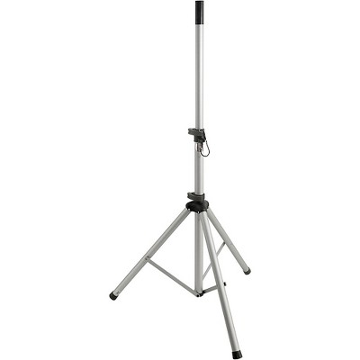 Peak Music Stands SS-20S Speaker Stand with Safety Pin Silver