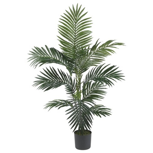 4ft Artificial Kentia Palm Silk Tree in Pot - Nearly Natural - image 1 of 2