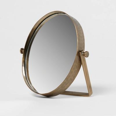 Hammered Metal Mirror Brass - Threshold™