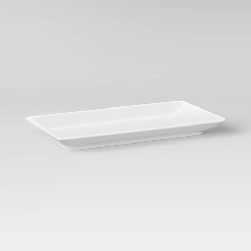 """Rectangle Serving Tray 12.2""""x6.46"""" Porcelain - Threshold™ - image 1 of 2"""