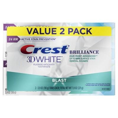 Crest 3D White Brilliance Blast Whitening Toothpaste Energizing Mint - 4.1oz