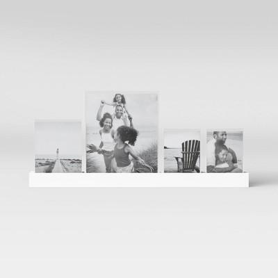 "23"" Acrylic Slide In Photo Ledge White - Threshold™"