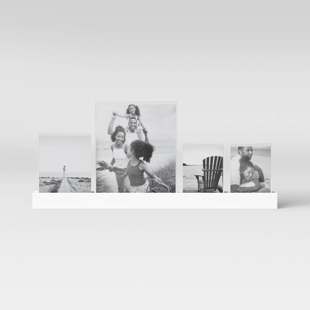 """Image of """"23"""""""" Acrylic Slide In Photo Ledge Black - Threshold"""""""