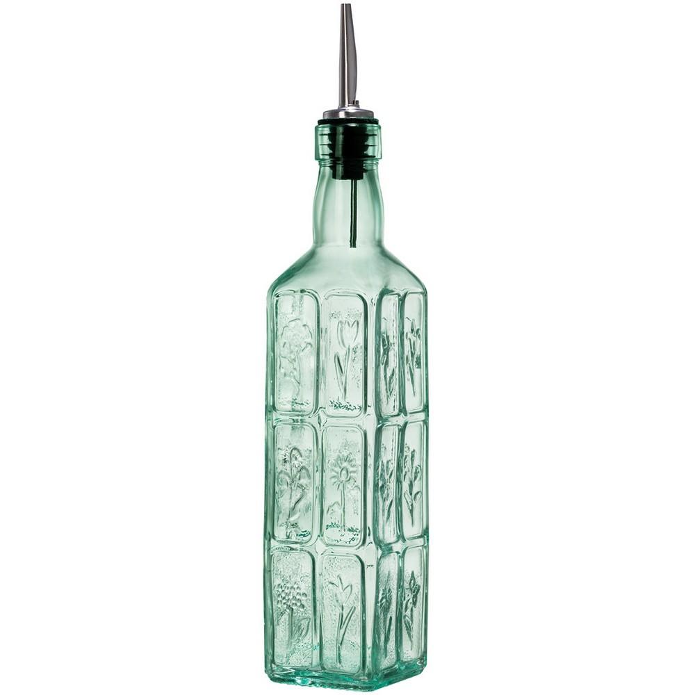 Image of Bormioli Rocco 17oz Fiori Oil Dispenser Bottle Green