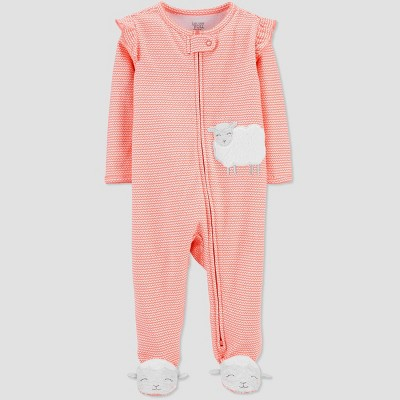 Baby Girls' Sheep One Piece Pajama - Just One You® made by carter's Pink 3M