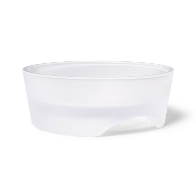 Frosted Clear Glass Saucer for Dogs - Boots & Barkley™