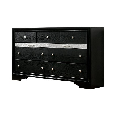Oak Creek 9 Drawer Dresser Black - miBasics