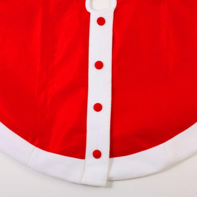 """Sterling 48"""" Red Felt Santa Claus Jacket with Buttons Christmas Tree Skirt"""