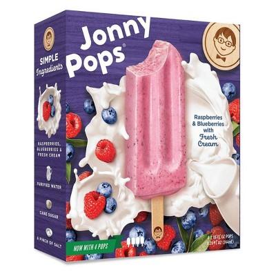 JonnyPops Raspberries Blueberries & Cream Frozen Fruit Bars - 4pk/8.25oz