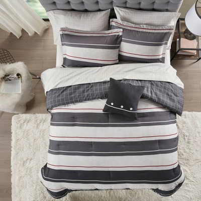 Wade Reversible Complete Bedding Set Gray/Charcoal