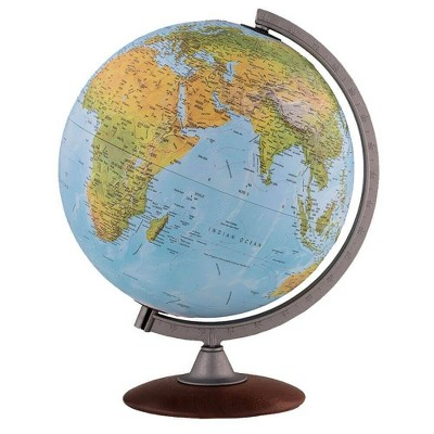 Tactile Blue Ocean Physical Relief Globe  - Waypoint Geographic